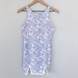 L'ATISTE Pastel Floral Snakeskin Mini Dress